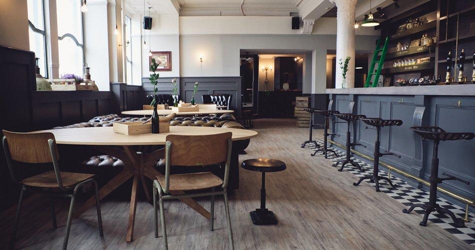 The fountain bar we are glm for Interior design agency edinburgh