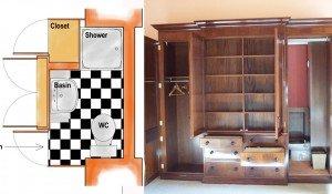 Gilmerton House – Wardrobe Ensuite