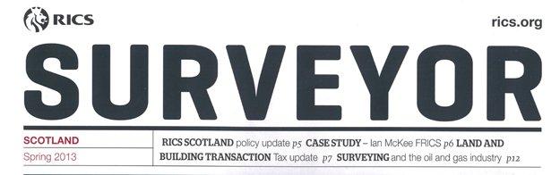 Cover feature on Ian McKee in RICS Surveyor magazine