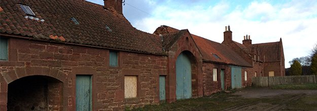 Tyningham Steading falling in to disrepair as it sits as a underutilised listed buildings