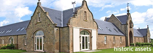 Edrom Steading having undergone a refurbishment - demonstrates listed buildings fully utilised and income producing